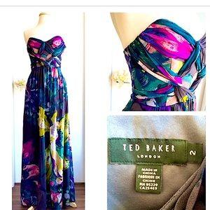 Stunning TED BAKER floor length dress TB 2= US 4